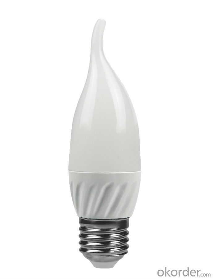LED Candle Light E27 /E14 3000k-4000K-5000K-6500k C35 5W CRI 80  400 Lumen Non Dimmable
