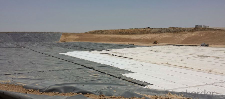 Short fiber Needle Punched Non woven Geotextile