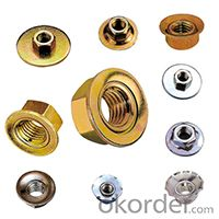 Flange Nuts Small Size Hex Nuts Factory Supply High Strength
