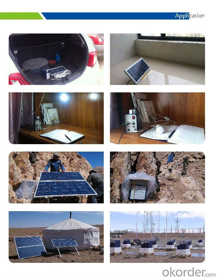 Home Off-grid Solar Power System DC Lighting JS-SPS-600C