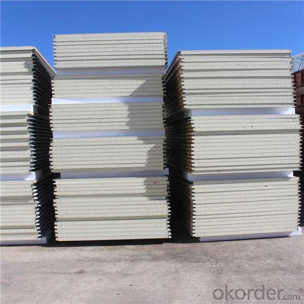 Cheaper Sandwich Panel Houses With PVC Wall Cladding