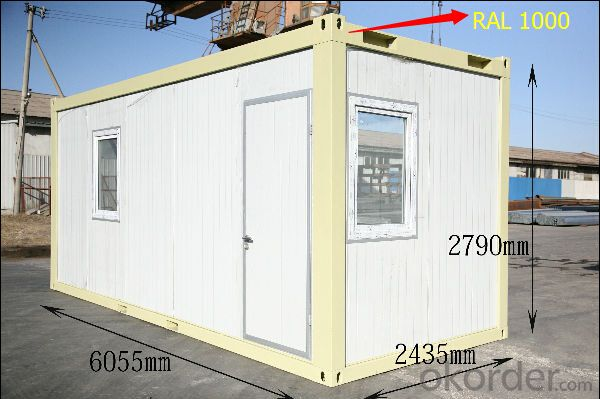 Container House Flat Pack for Office with Toilet