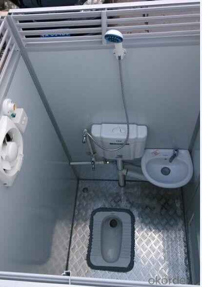 Fiberglass Insulation in Public Portable Toilets Made in China