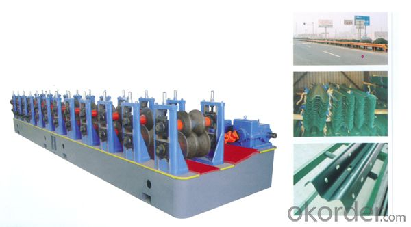Guardrail Steel Profiles Cold Roll Forming Machine
