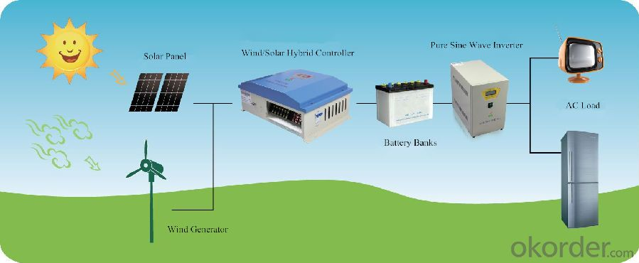 1KW-MPPT Charging Function-Solar Charge Controller