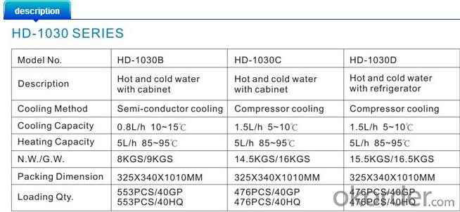 Standing Water Dispenser                 HD-1030
