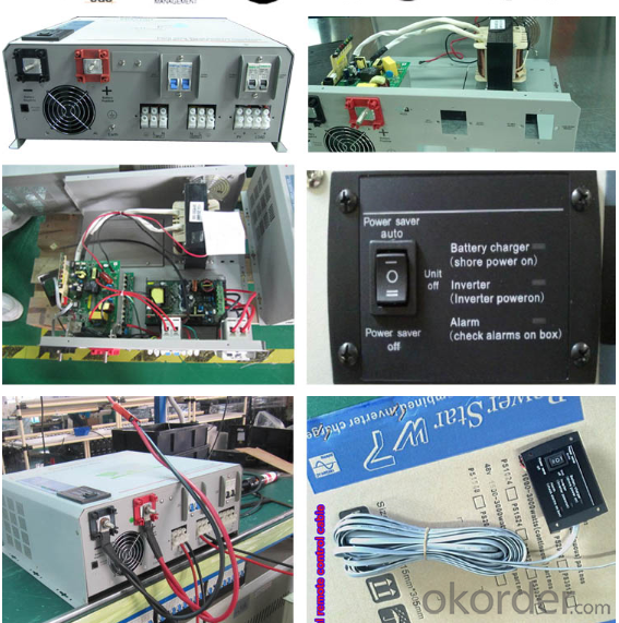 Solar System 12V 24V 1-3KW Inverter with Controller and Charger Pure Sine Wave