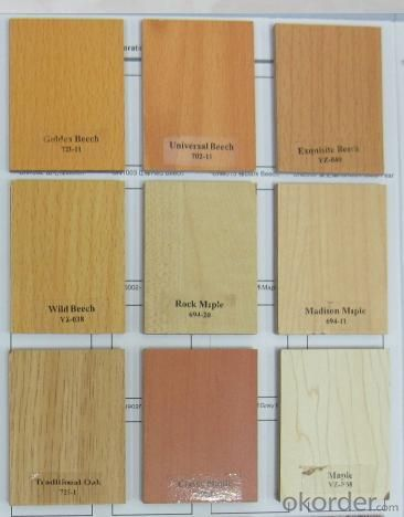 Melamine Faced MDFBoards in Different Wood Grain Colors
