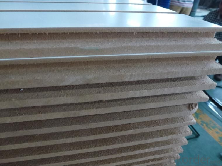 Melamine Slotted MDF Board for Furniture Making