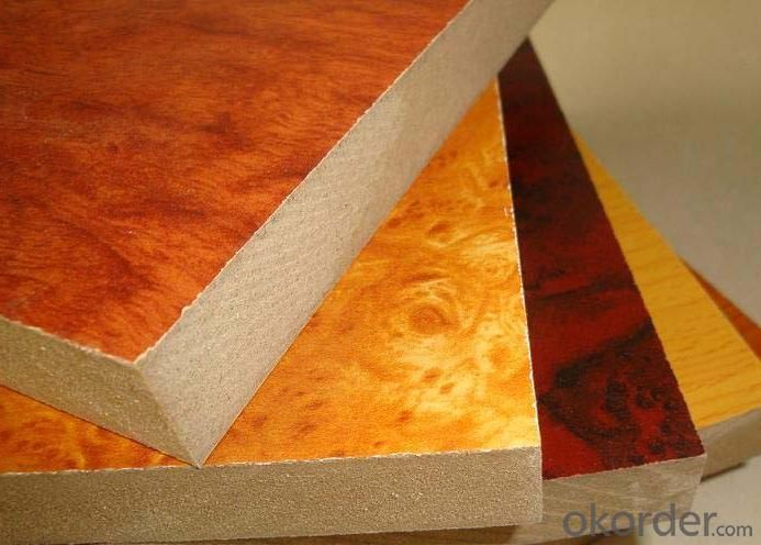 Wood Grain Colors Melamine MDF Boards for Furniture Making