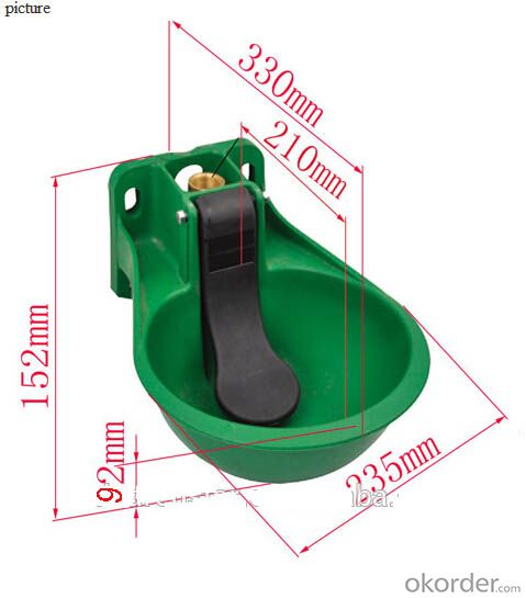 Plastic Water Bowl Green Color for Cattle or Horses