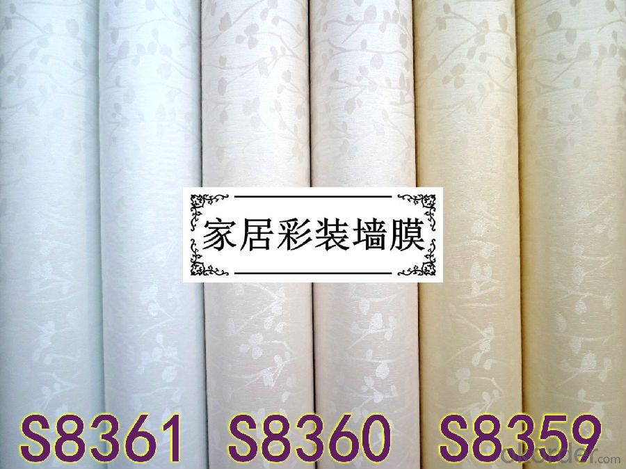Self-adhesive Wallpaper Decorative design with Flower Economical Cheap PVC Wallpaper