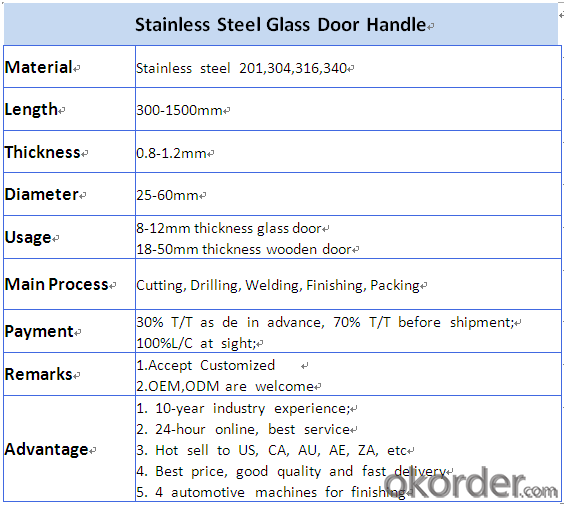Stainless Steel Glass with best quality/Wooden Door Handle on hot sales DH110