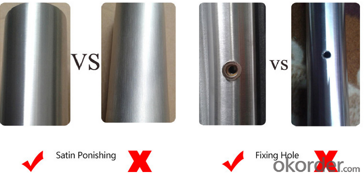 Stainless Steel Glass/Wooden Door Handle DH115