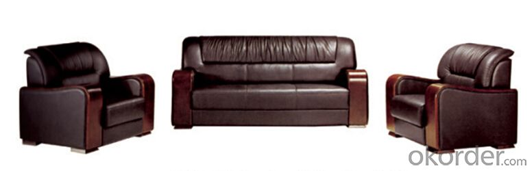 Office PU Leather Sofa with MDF Board Frame