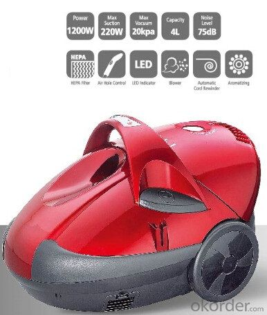 Water Vacuum Cleaner Cyclone Wet and Dry Bagless with outlet HEPA