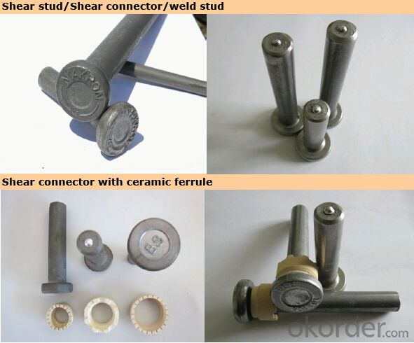 Arc stud welding shear connectors steel structure with welding machine