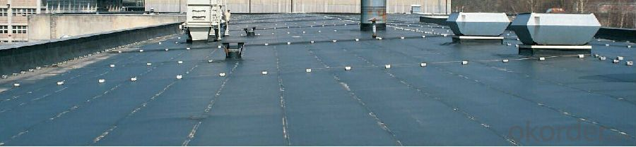 Vulcanized EPDM Waterproof Membrane Width1.2m Thickness 1.2mm, 1.5mm, 2.0mm