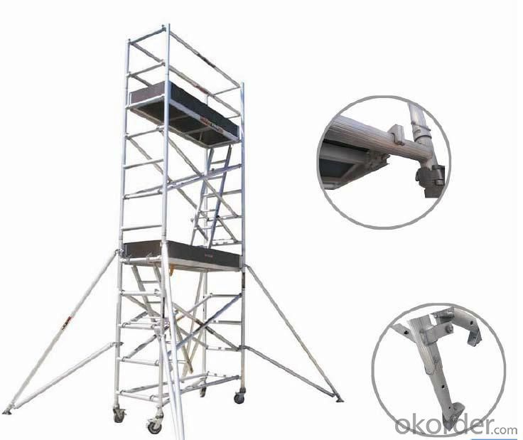 Aluminum Single Width Scaffolding with Inclined Ladder