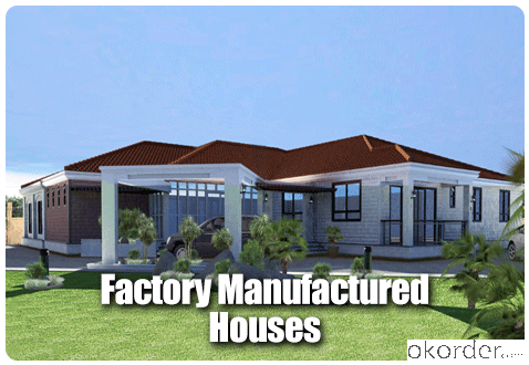Steel House Prefabricated House One Storey Modern Design Flat Roof or Sloped Roof