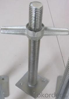 Base Jack Solid for Scaffolding and Formwork System