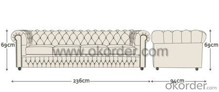 Chesterfield Sofa Popular in Europe and Australia