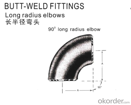 Pipe Fittings Butt-Welding 90° Long Radius Elbows