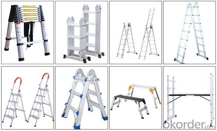 Anodized Aluminum Telescopic Ladder, High Quality