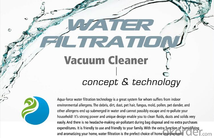 Water Filtration Vacuum Cleaner Cyclonic Wet and Dry Household Portable Cleaner