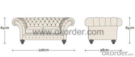 Grosvenor Chesterfield Sofa in Living Room