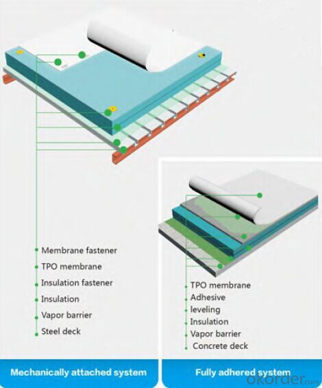 TPO Single-ply Roofing System 9 Colors Available