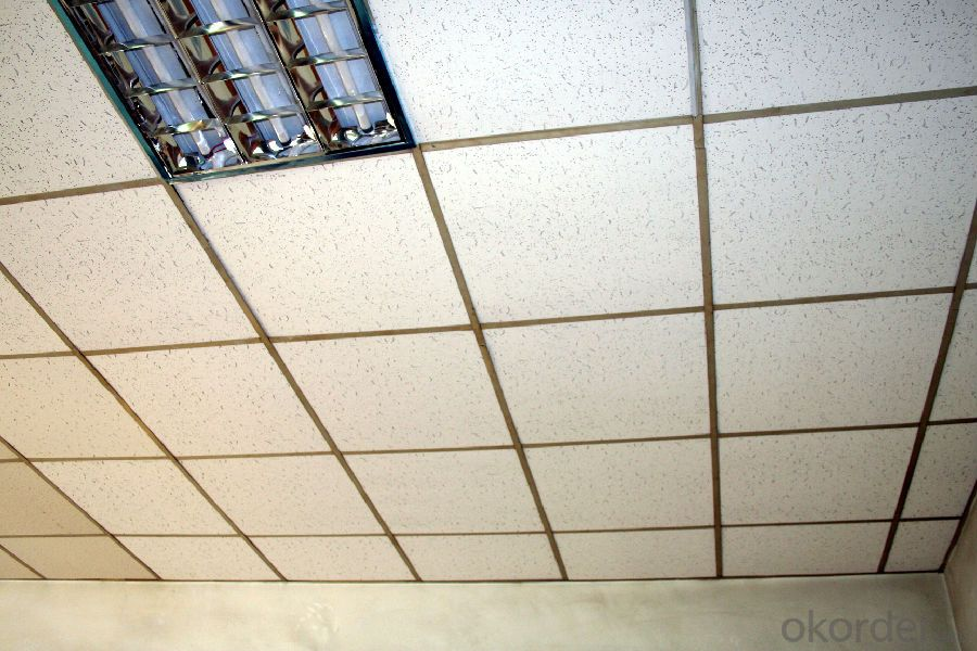 Ceramic tile on ceiling
