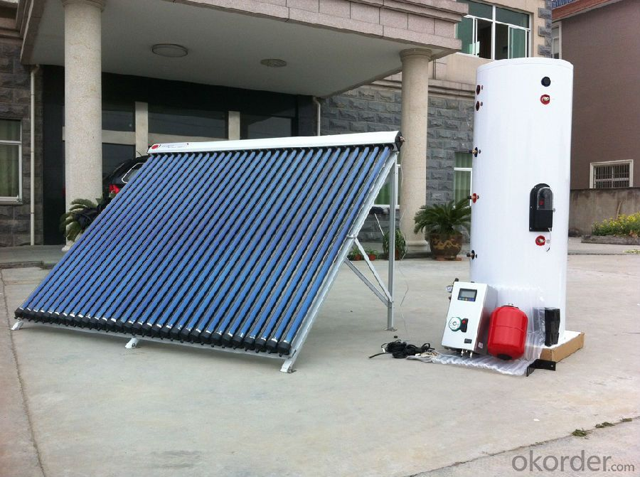 Split Solar Heating System with no Copper Coil Inside of Water Tank Model SS-M0