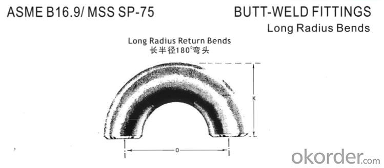 Steel Pipe Fittings Butt-Welding 180° Long Radius Return Bends