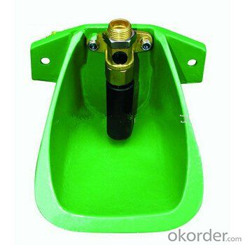 Cast Iron Green Powder Coated Water Bowl for Pig