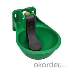 Plastic Water Bowl (2.5 L) with Paddle for Cattle or Horses