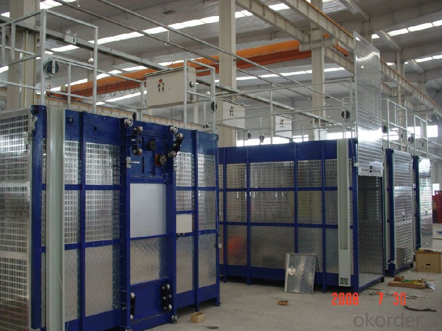 CE Approved Construction Hoist, Construction Site Elevator (SC200/200)