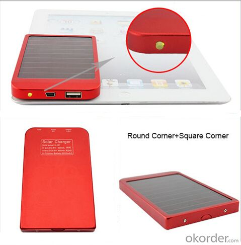 Solar Charger--Portable Mobile Phone For 1800/2600/3500Mah Mobile