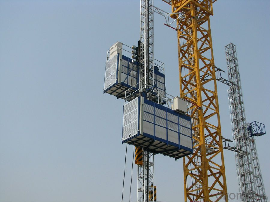 Single Cage Construction Hoist 1000kg with CE ISO