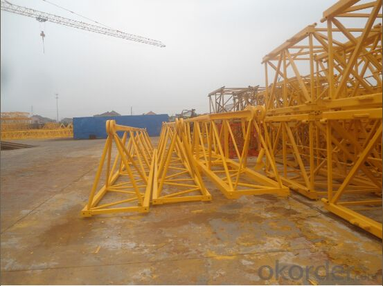 Topless Tower Crane QP6013 (QTZ100P) TCP6013 high quality 8ton