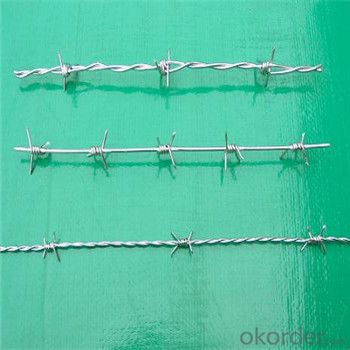Galvanized and PVC Coated Barbed Wire / Cheap Durable High Quality Factory