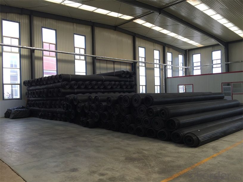 PVC Coated Polyester Geogrid Warp or Railway