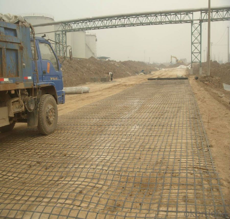Fiberglass Geogrids for Road Reinforcement