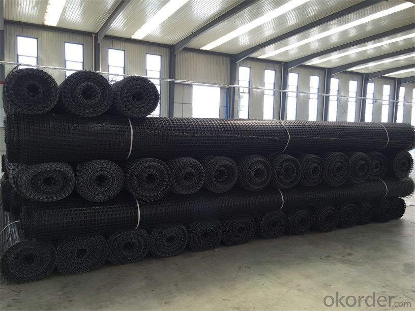 PVC Coated Polyester Geogrid Warp knitting for Railway