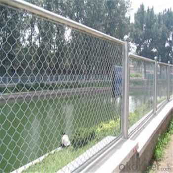 Chain Link Wire Mesh Galvanized PVC Coated Wire Mesh Weaving Good Quality