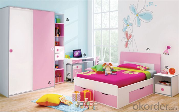 Bunk Bed Kids Furniture Set meeting Europe Standard
