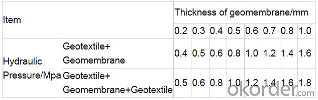 Composite Geomembrane with Nonwoven Geotextile