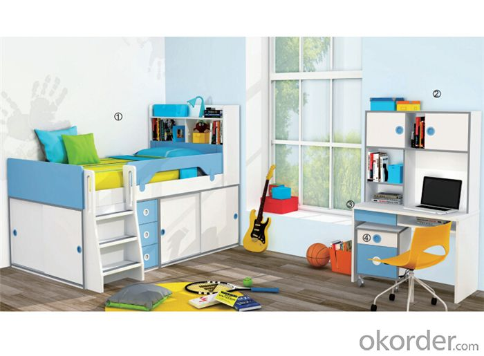 Princess Bedroom Bunk Bed  with Lovely Color