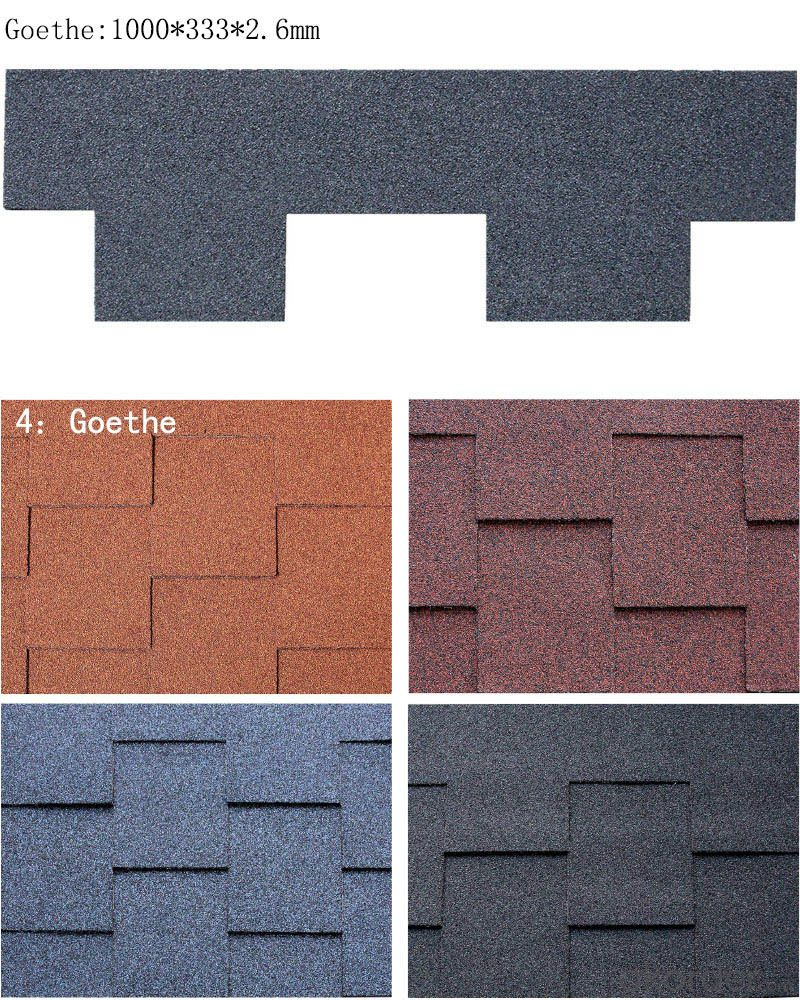 Goethe  Type Asphalt Roof Sheet SGS Test Passed Good Sell