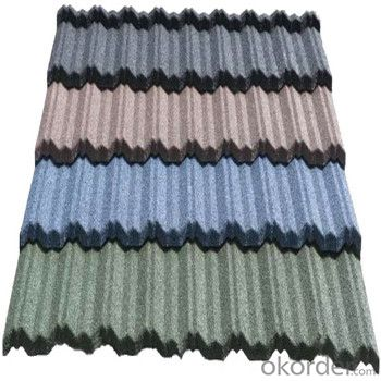 Stone Coated Metal Roofing Tile Heat-Resisting Red Green Blue Grey New Hot Products